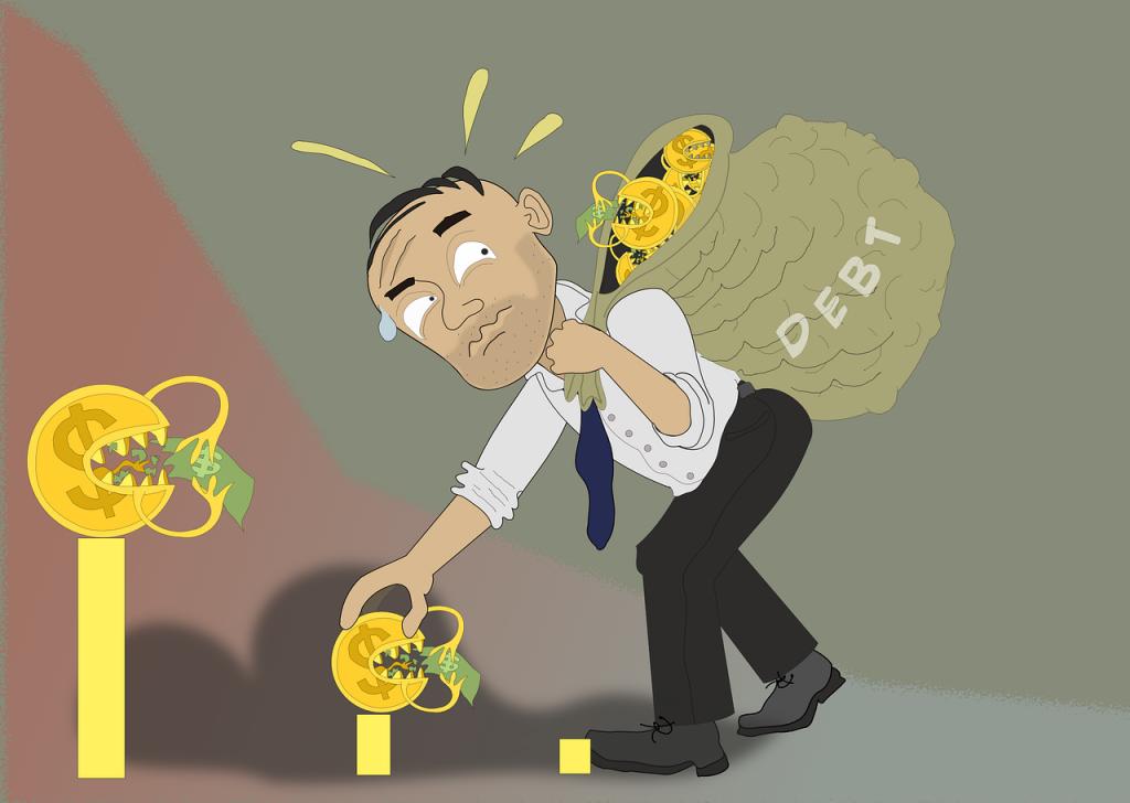 負債が増えていく